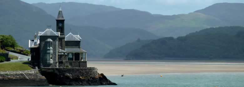 Snowdonia mountains and the Mawddach estuary, Barmouth
